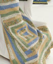 Crochet Folk Quilt Throw / nice one! / intermediate / FREE CROCHET pattern