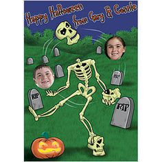 can personalizethis frighteningly fun juggling skeleton cardboard cutout juggles something special - Face In Hole Halloween