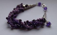Handmade tatted bracelet