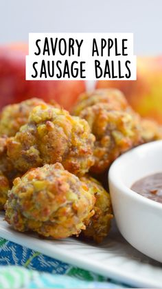 Sausage Recipes, Apple Recipes, Pork Recipes, Gourmet Recipes, Holiday Recipes, Cooking Recipes, Finger Food Appetizers, Yummy Appetizers, Appetizer Recipes