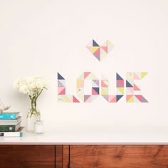 Reusable Fabric Wall Stickers - Geometric
