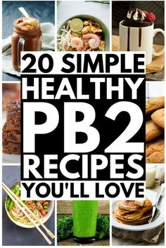 If you're a lover of all things peanut butter, but don't like what it does to your bum, hips, and thighs, this collection of the best PB2 recipes is for you! Whether you're on the Weight Watchers diet, follow a low carb lifestyle, or just want healthy options to get your peanut butter on, these recipes will not disappoint. From protein-rich breakfast smoothies to guilt-free cookies, there's a recipe here for everyone! #PB2recipes #PB2 #PB2desserts #lowcarbdiet #lowcarbrecipes
