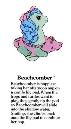 My Little Pony Beachcomber fact file ...