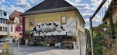 Österreich-Klagenfurt-Linsengasse Klagenfurt, Street Art, Street View, Murals, Travelling, Wall Paintings, Mural Painting, Wall Murals, Mural Art