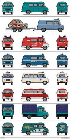 Retro Cars, Vintage Cars, Antique Cars, Fiat 126, Car Polish, Mini Bus, Car Brochure, Car Logos, Custom Trucks
