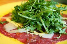 Beef Carpaccio at Basta Trattoria