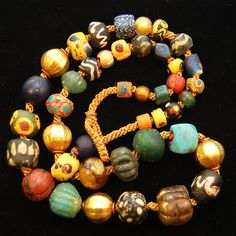 Each one of these beads is a hand made gemstone really, and the ages were kind to these. http://www.veteranstoday.com/2014/09/28/old-glass-comes-to-pass-vt-ancient-artifacts/