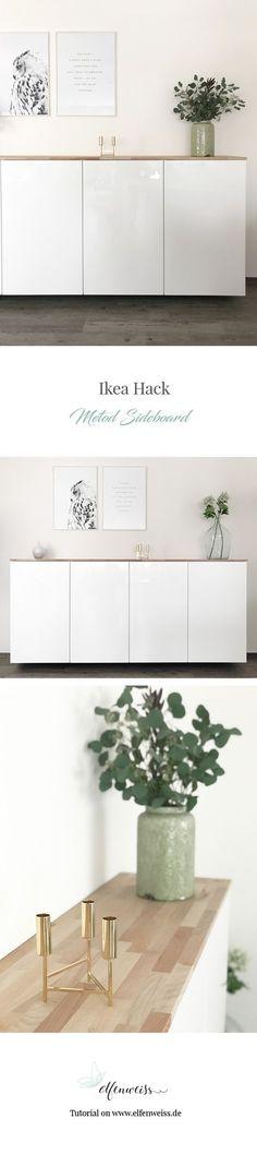 Don't we all love Ikea hacks? Hier seht ihr Metod Küchenschränke als Sideboard - alle Details findet ihr auf dem Blog
