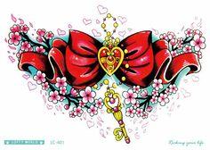 LC 401 21*15 cm Sailor moon Mujeres Gran Etiqueta Engomada Del Tatuaje Hermoso Color Clave Collar Rojo Diseño Fresco Tatuaje Temporal pegatinas Taty en Tatuajes temporales de Belleza y Salud en AliExpress.com | Alibaba Group