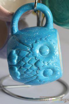 Blue Owl Mug Handmade Ceramic from my Charleston, SC Studio - pinned by pin4etsy.com