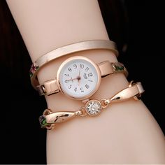 $7.20 (Buy here: https://alitems.com/g/1e8d114494ebda23ff8b16525dc3e8/?i=5&ulp=https%3A%2F%2Fwww.aliexpress.com%2Fitem%2F2017-New-Arrivel-Women-Flower-Leather-Watch-Watches-Quartz-Rhinestone-Bracelet-Dress-Wristwatches-Girl-s-Gift%2F32773667274.html ) 2017 New Arrivel Women Flower Leather Watch Watches Quartz Rhinestone Bracelet Dress Wristwatches Girl's Gift Fashion Clock for just $7.20