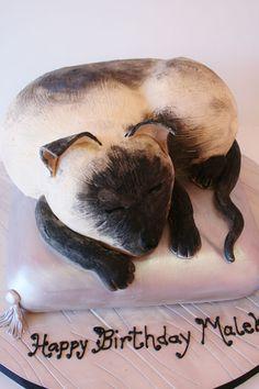 Happy Birthday Siamese Cat Cake