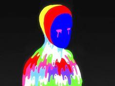 Terror tutorial logo animation behance cel photoshop motion graphics motion design animation after effects flat Rainbow Aesthetic, Night Aesthetic, Aesthetic Gif, Animation Sketches, Animation Reference, Motion Design, Design Thinking, Trippy Gif, Design Ios