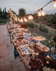 rustic country wedding food ideas for small weddings wedding reception backyard 23 Stunning Small Wedding Ideas on a Budget - Oh Best Day Ever Rustic Wedding Reception, Wedding Backyard, Reception Ideas, Small Wedding Receptions, Wedding Dinner, Camp Wedding, Wedding At Home, Potluck Wedding, Backyard Engagement Parties