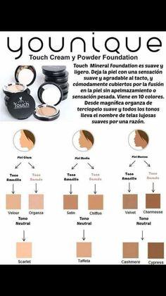 Maquillaje Touch de Younique en cream y polvo!!! Increibles resultados!!! Y basado en productos naturales, libre de chimicos!!!