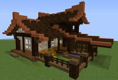 Old Japan Farm House – GrabCraft – Your number one source for MineCraft building… Old Japan Farm House – GrabCraft – Your number one source for MineCraft buildings, blueprints, tips, ideas, floorplans! Minecraft Building Blueprints, Minecraft Plans, Minecraft City, Minecraft Construction, Minecraft Tutorial, Minecraft Crafts, House Blueprints, Amazing Minecraft, Minecraft Memes