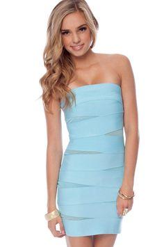 Baby blue clubbing dress