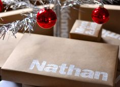 Homemade Gift Ideas: Typographic Wrapping Paper