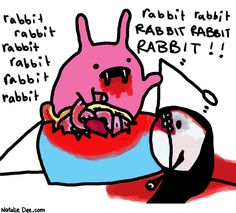 Comic by Natalie Dee: rabbit