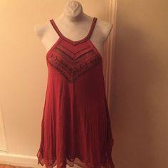 Free people dress Boho free peel dress - beaded detail crochet detail great summer dress Free People Dresses Midi
