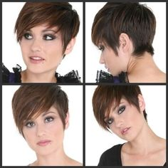 Straight Short Pixie Hairstyle for Women and Girls