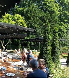 Terras Restaurant Merkelbach, Frankendael, Amsterdam. in the park