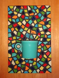 Items similar to Mosaic Turquoise Coffee mug wall hanging kitchen art mosaic art with steam on Etsy Kitchen Mosaic, Mosaic Pots, Mosaic Diy, Mosaic Crafts, Mosaic Projects, Mosaic Wall, Kitchen Art, Mosaic Tiles, Kitchen Ideas
