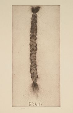 Braid  Jim Dine (American, born 1935)    1973. Etching, plate