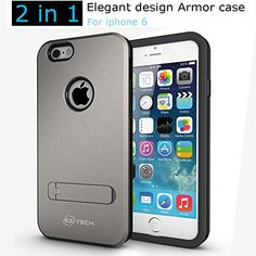 Check out the BEST iPhone 6 Case under $9.99. EZ-TECH Armor 2 in 1 Case Built-in Kickstand made with Flexible TPU and Double Impact Resistant Hard Polycarbonate For ULTRA Protection [Apple iPhone 6 4.7-inch] (GRAY) EZ-TECH http://www.amazon.com/dp/B00OBTQLVS/ref=cm_sw_r_pi_dp_TeHLub0SVPZR2