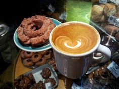 """Top Pot -another Seattle's """"trademark"""" amazing Doughnuts - and coffee"""