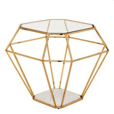 EICHHOLTZ SIDE TABLE ASSCHER - GOLD | Eichholtz Furniture - Interiors  Probably the most beautiful cut ever for diamonds, invented more than a 100 years ago by Joseph Asscher from the famous Dutch company Royal Asscher Diamond Company. Time to bring a beautiful jewel in your interior. OROA.COM