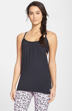 Trina Turk Recreation Drape Tank with Built-in Sports Bra available at #Nordstrom