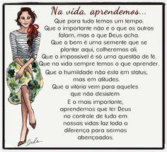 Luiza's Blog: NA VIDA, APRENDEMOS...
