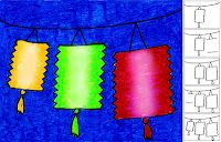 Art Projects for Kids: How to Draw Chinese Lanterns
