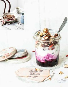 katie's granola with blueberry compote & yoghurt (new cookbook ♥ what katie ate at the weekend...)