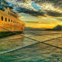 Sunset at Edipsos Port, Greece