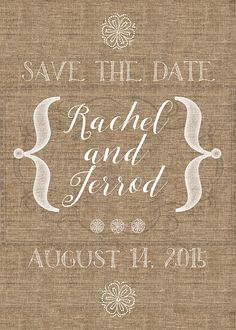 Rustic, Simple and Artsy Save The Date - fully customized for you. After purchasing the listing, I will make the desired customizations and then