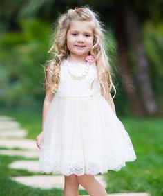 Another great find on #zulily! Ivory Sophia Dress - Girls by Trish Scully Child #zulilyfinds