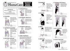 Cervical and Thoracic Stretches handout