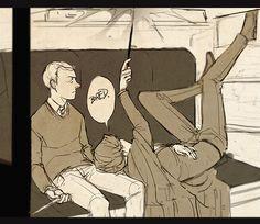 On the train... Potterlock.