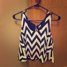 Chevron crop top Brand new never been worn. Bought from The Rage online boutique. Make an offer. Fifty street Tops Crop Tops