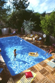 Love this pool deck for new house.