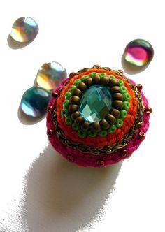Ringe - ••• Sommerring mit Cabochon ••• - ein Designerstück von crochet bei DaWanda