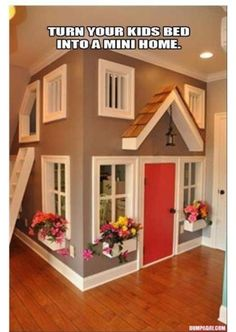 play area #house. turn your kids bed into a little house