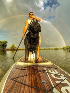 #SUP with the pup. PC: Neilsen   | Klave's Marina has been serving the boating community on Portage Lake in Pinckney, MI for more than 50 Years! Call (734) 426-4532 or visit our website www.klavesmarina.com for more information!