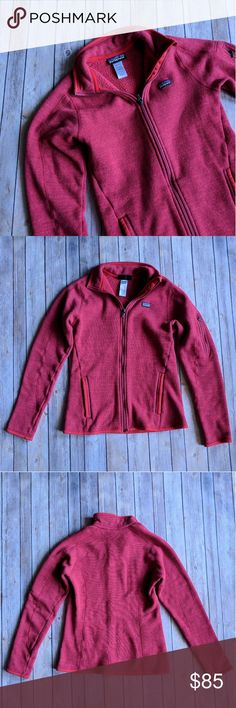 """Patagonia Better Sweater Fleece jacket Patagonia red Better Sweater Fleece jacket. Size S. Excellent condition. Smoke free home. 100% polyester exclusive of trim. Length: 23.5"""". Chest: 16.5"""". Perfect for fall and winter! Patagonia Jackets & Coats"""