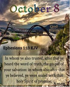 October Calender, Ephesians 1, Broken People, October 8, People In Need, Daily Bible, Jesus Loves You, Do Anything, Holy Spirit