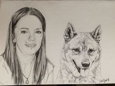 Sketch on A6 pet portrait