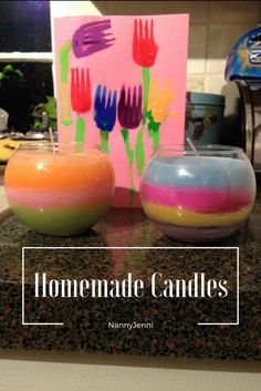 Take a look at these wonderful homemade candles I made with the children for Mother's Day. To find out how we made the candles and the card take a look at my blog.