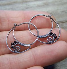 Black Spinel & Sterling Silver Earrings | Flickr - Photo Sharing!